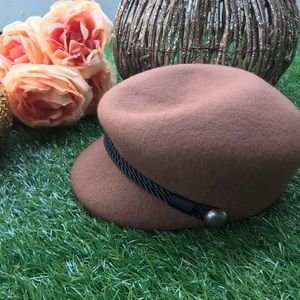 Tan Wool Winter Hat